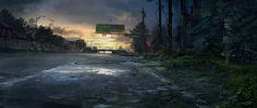 Abandoned Road, Tysen Johnson on ArtStation at https://www.artstation.com/artwork/abandoned-road