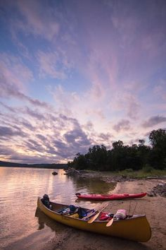 Poisson Blanc kayaks Camper, Location, Summer 2016, Kayaking, Boat, Celestial, Activities, Sunset, Outdoor
