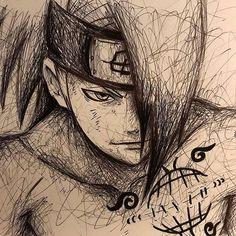 Naruto Sketch, Naruto Drawings, Anime Drawings Sketches, Anime Sketch, Naruto Shippudden, Naruto Cute, Naruto Shippuden Anime, Deidara Wallpaper, Anime Akatsuki
