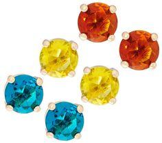 6ffeb6e6b80 C. Wonder Set of 3 Faceted Crystal Stud Earrings