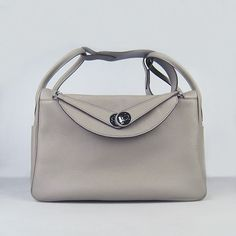 Hermes Lindy 34 with Silver Hardware (Grey) via Polyvore