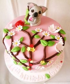 pink Koala cake