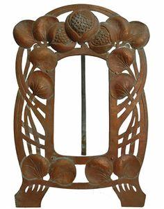 Antique French Art Nouveau Copper Picture Frame   JV