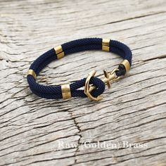 Amazing Nautical sailor's anchor bracelet - New Haven in navy blue - Women's Jewelry and Accessories-Women Fashion Nautical Bracelet, Nautical Jewelry, Segel Outfit, Bracelet Nautique, Bracelets For Men, Jewelry Bracelets, Jewellery, Bracelet Making, Jewelry Making