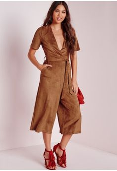 LOVE the suede variation of this jumpsuit - the only suede number i could find! also in a great tan colour.
