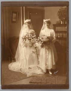 1916 Wedding Photo Album Two Sisters as Brides Double Wedding Chicopee Falls MA .  I lived near there in elementary school.