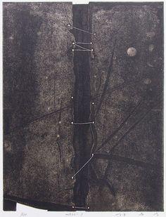 Takahiko Hayashi ~ WALL-1, 1982 (etching, chine collé)