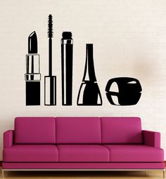 Beauty Salon Wall Stickers Cosmetics Makeup by Wallstickers4you