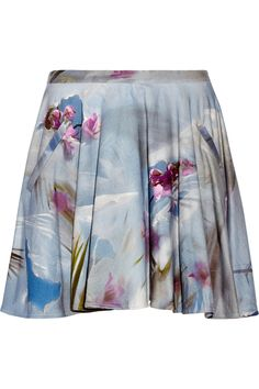 Chalayan Floral-print cotton-terry skirt - Multicolored floral-print cotton-terry- Slit pockets- Concealed hook and zip fastening at back- 100% cotton; pocket lining: 100% viscose- Hand wash