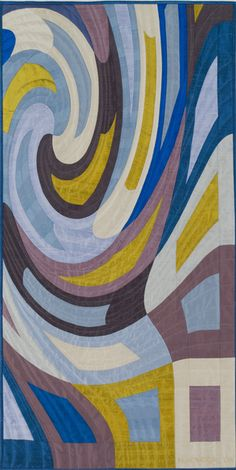 Disturbances #9 by Marilyn Henrion | art quilt.  Silks, hand quilted.