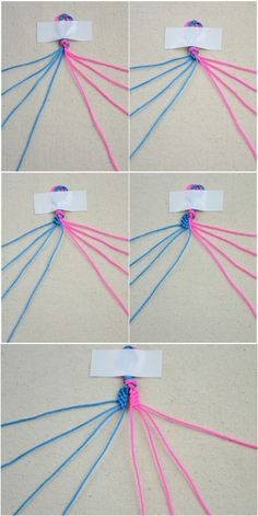Funny bracelet making instructions with string- DIY infinity bracelet – Pandahall