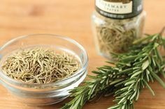 Rosemary, 'dew of the sea,' is a Mediterranean herb with needle-like leaves that has a strong 'pine-tree-like' fragrance.  It has been used in history as a symbol in the form of rosemary sprigs as a way of remembrance during weddings, funerals, and war commemorations. It has a bitter, astringent taste and it is advised to use rosemary early in the cooking process.  Rosemary is high in iron, calcium and Vitamin B6. Pair pork, garlic, fish, potatoes, onions or tomatoes. #rosemary