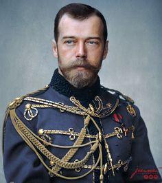 Beautifully coloured photo of Tsar Nicholas ll of Russia. Tsar Nicolas, Tsar Nicholas Ii, La Familia Romanov, Czar Nicolau Ii, Hesse, Monalisa, House Of Romanov, Alexandra Feodorovna, Imperial Russia