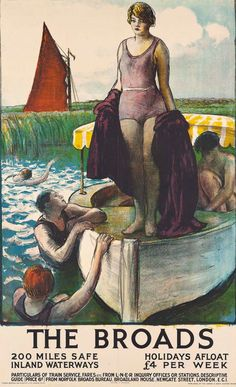 View THE BROADS by Gerald Spencer Pryse on artnet. Browse upcoming and past auction lots by Gerald Spencer Pryse. Posters Uk, Railway Posters, Poster Prints, Norfolk Broads, Norfolk England, British Beaches, Visit Britain, British Travel, Travel General