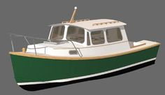 Down East Cruiser 23 - Study Plans Small Power Boats, Pilothouse Boat, Cabin Cruiser Boat, Boat Interior, Interior Design, Shanty Boat, Study Plans, Wooden Boat Plans, Boat Building Plans