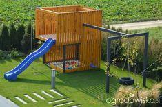 Backyard Treehouse, Kids Backyard Playground, Playhouse Outdoor, Backyard For Kids, Backyard Projects, Garden Deco, Modern Backyard, Outdoor Fun, Play Houses