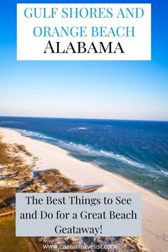 Planning a vacation to Gulf Shores and Orange Beach, Alabama? Discover the best things to see and eat and what to do with this handy travel guide for Gulf Shores. Places In Usa, Places To Travel, Places To Visit, Travel Destinations, Usa Travel Guide, Travel Usa, Travel Guides, Travel Tips, Globe Travel