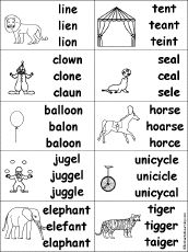 missing letters for kids circus activities preschool lesson plans circus theme. Black Bedroom Furniture Sets. Home Design Ideas
