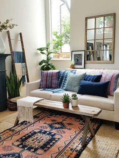 I am creating a bohemian eclectic family room for the ORC. Here are 5 tips on how I achieve this bohemian eclectic vibe for yourself.