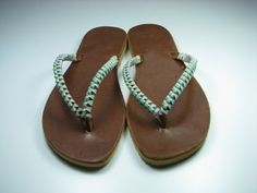 SALE ! Brown leather sandals TURQUOISE Sandals - Women Sandals - BOHO sandal - Handmade Sandal - Greek Sandal - Flat Sandal - Wedding Sandal