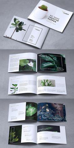 FLORYA - Creative Corporate Brochure Template  #brochure #template #indesign #templates #brochuretemplate #corporate #business