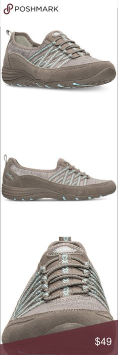 Skechers Women's Unity Eternal Bliss Atheistic relaxing in style with these woman's unity eternal bliss sneakers from sketchers. keeping you comfortable with lightweight fabric and a fully cushioned footed; these casual kicks are sure to become your go to for everyday leisure. •casual athletic inspired sneakers •plush memory foam cushioning •slip on design •elastic bungee lacing system  •Heather knit fabric upper system  •Suede and synthetic overlays  •woman's athletic footwear from Finish…