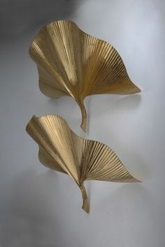 40: Carlo Giorgi. Pair of 'Gingko' sconces, designed in : Lot 40