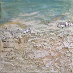 Above & Beyond #412, Robin Luciano Beaty, Encaustic and mixed media, 6 inches by 6 inches, ready to hang