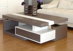 latest diy coffee table design ideas for modern living room furniture design sets 2019 wooden coffee table designs for new Indian home interior design trends. Coffee Table Design, Diy Coffee Table, Modern Coffee Tables, Living Room Sofa Design, Bedroom Furniture Design, Table Furniture, New Furniture, Centre Table Living Room, Center Table