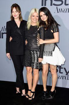 Dakota Johnson Photos - (L-R) Actress Dakota Johnson, stylist Kate Young and…