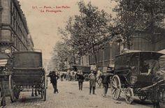 Le quartier des Halles dans le vieux Paris