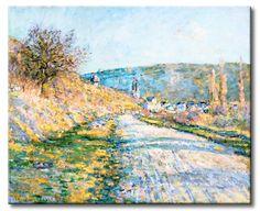 MU_MN2082 _ t_Monet _ The Road to Vetheuil / Cuadro Paisaje, la Carretera a Vetheuil