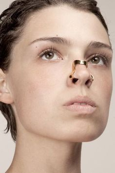 Face Distorting Jewelry Warps Your Mug In Terrifying Ways #refinery29  http://www.refinery29.com/face-distorting-jewelry-warps-your-mug-in-terrifying-ways#slide4  Imme van der Haak