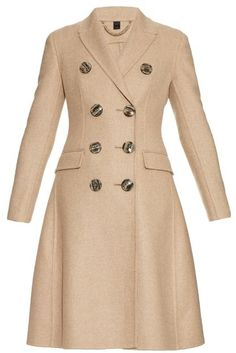BURBERRY PRORSUM Double-breasted cashmere coat / 7112style.website /