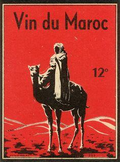 Vintage Moroccan wine label, via Agence Eureka. (via Words & Eggs Tumblr) ... c.1930s
