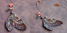 Faery Wing Necklace by phee-adornments.deviantart.com on @DeviantArt