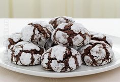 Chocolate Crinkles 'Crack' Cookies Recipe – Easy and Gluten-Free! Chocolate Crack, Chocolate Crinkle Cookies, Chocolate Crinkles, Gluten Free Chocolate, Crack Cookies Recipe, Easy Cookie Recipes, Dessert Recipes, Desserts, Cracked Cookies