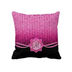 Rosette and Weave Pink Pillows