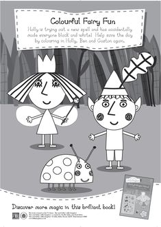 Ben and Holly Colouring/Activity Printable for kids