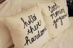 sweet mr and mrs pillows