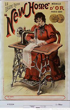 La légère rapide New Home [machine à coudre] : médaille d'or, Paris 1889 ... : [affiche] / [non identifié]
