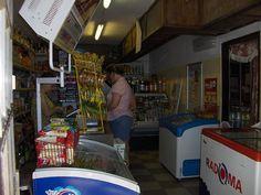 Lisa from Ocala, Florida shopping in a corner store in Trnava, Slovakia