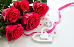 flowers, roses, petals, love, valentine's day