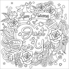 Love Forever Coloring Page