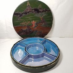 Antique Porcelain Shofu China 5 piece Lusterware Lacquer Box Made in Japan #Shofu