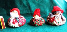 Vintage Christmas Doll Elf Gnome Santa Tomte Sweden  family father mother child