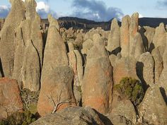 Rocky ghosts in Rafu, Sanetti plateau. Bale mountains. Ethiopia