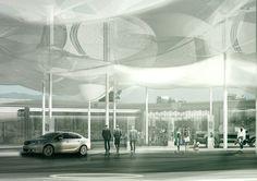 Arquitectos alemanes diseñan gasolinera sostenible para Rancagua, Chile,Cortesia de raumspielkunst