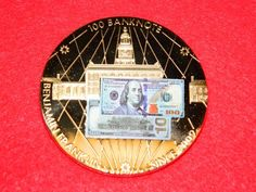 American Mint $100 Franklin Banknote Commemorative Collectible Gold Coin w/ COA