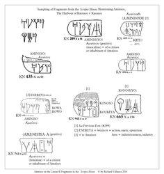#LinearB #fragments #ScriptaMinoa #Amnisos #Knossos Click to ENLARGE